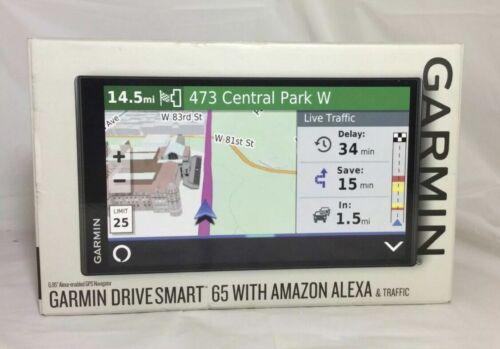 NEW Garmin DriveSmart 65 Traffic W/ Amazon Alexa Voice-Control 010-02153-00