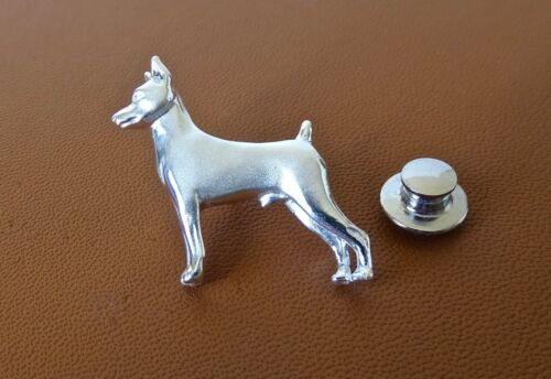 Sterling Silver Miniature Pinscher Lapel Pin