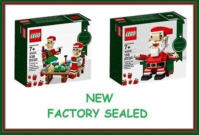 Lego set 40205 2 village Elf Christmas train gift winter 40206 Santa fig New