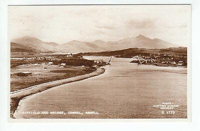 RAF WW2 Airfield & Bridge Connel Argyll 1954 Real Photo Scottish Sunday Express