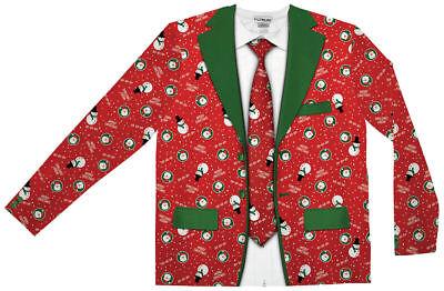 Xmas Suit (Morris Costumes Men's Long Sleeve Christmas Polyester Suit Black 2XL.)