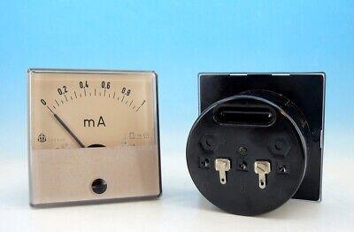 1x Vintage Military Metra Analog Panel Ampere Meter System Dc 0-1ma Gauge Y