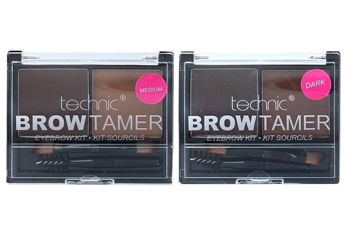 Technic Brow Tamer Eyebrow Shaping Kit Medium Dark Powder ...