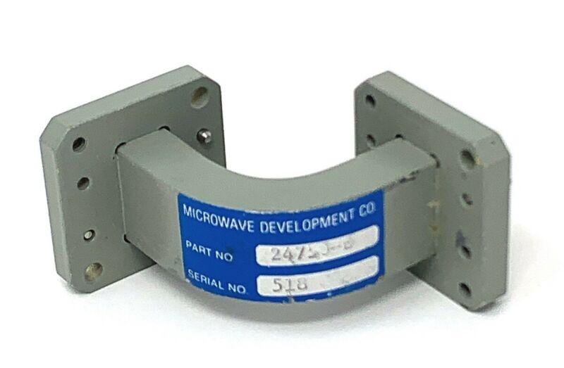 MICROWAVE DEVELOPMENT PART No. 24750-H WAVEGUIDE