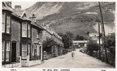 Main Road Llangynog Nr Oswestry RP old pc used 1961 Frith