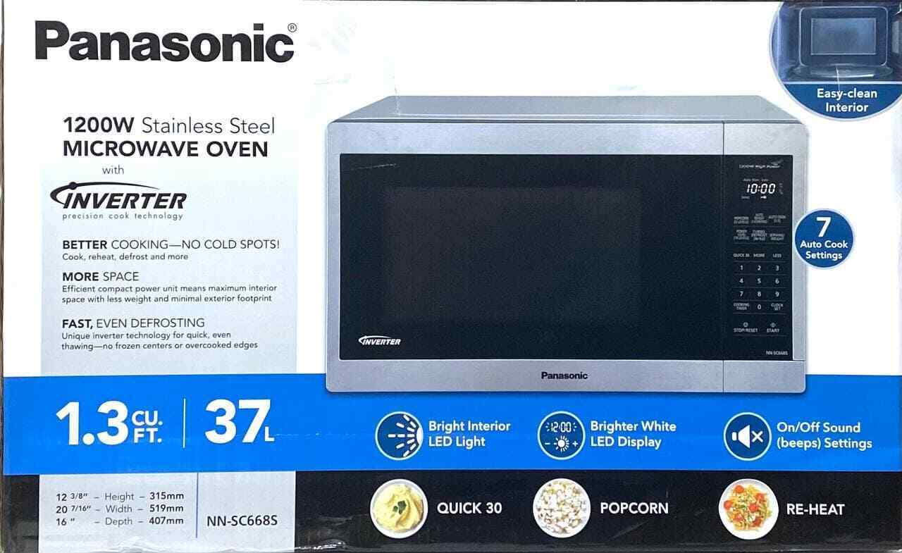 Panasonic 1.3CuFt 1200W Stainless Steel Countertop Microwave