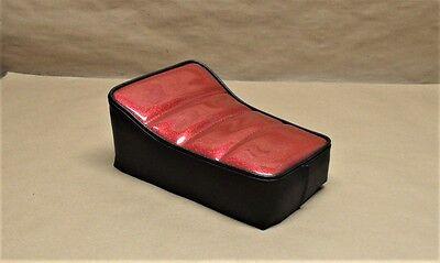 "10"" X 7"" ZODIAC RED BLACK GLITTER SCOOTER MINIBIKE SEAT MINI BIKE TACO BIRD FOX"