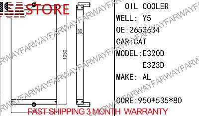 E320d Core As- Oil Cooler Hydraulic Fits For Caterpillar Cat E320dl 323d 535mm