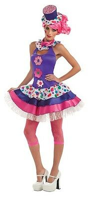 Jellybean Circus Clown Purple Pink Fancy Dress Up Halloween Deluxe Adult Costume