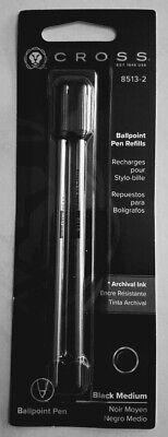 4 Cross Ballpoint Pen Refills 8513-2 Black Ink Medium Point
