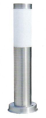 Baliza Sobremuro 45cm para Exterior en Acero Inox y PVC