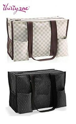 New Thirty One Zip Top Organizing Utility Tote Bag 31 Gifts More Design