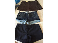 Size 10 2x shorts and 1 x skirt