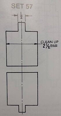 Press Brake Die Flattening Die 2 12 Inch Clean Up Bar 57 12 Inch Top Bottom