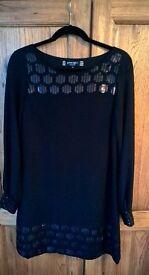 PRINCIPLES by Ben de Lisi Black Dress - Size 12