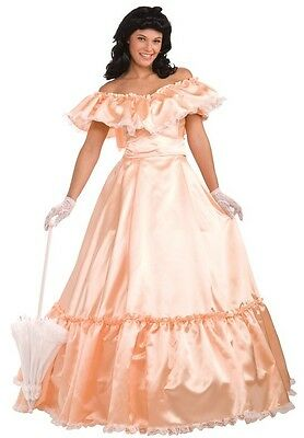 Southern Belle of the Ball Georgia Peach Fancy Dress Up Halloween Adult Costume - Southern Belle Costume Adult