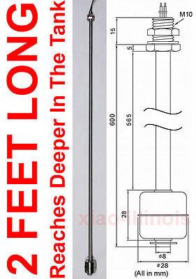 2 Ft Long Stainless Steel Float Switch Horizontal Fish Tank Level Sensor L4