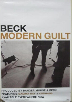 BECK 2008 modern guilt promotional poster New Old Stock Flawless Condition