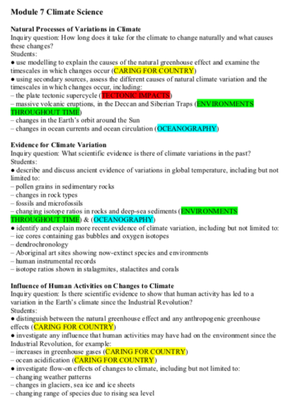 Band 6 HSC Earth and Environmental Notes | Textbooks