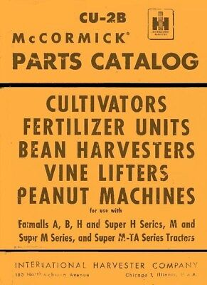 International Mccormick Vine Lifter For Farmall H M B Bn Tractor Parts Manual