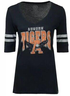 '47 Brand Women's Auburn Tigers Football Flanker Stripe Jersey Shirt Medium M Auburn Tigers Womens Football Jersey