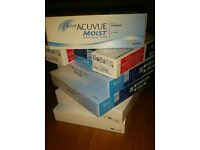 16 boxes (each 30 lenses) Acuvue Moist lenses -2.00