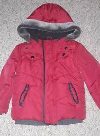 Girls warm winter coat size 2-3 years