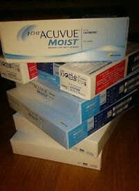 £150 for *16* NEW COMPLETE boxes ACUVUE moist (-2.0) lenses