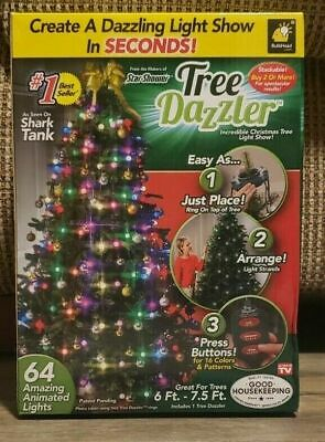 INSTANT CHRISTMAS TREE DECOR ANIMATED COLOR CHANGING DAZZLE LIGHTS SHOW~NEW~