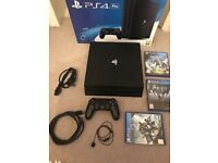PS4 Pro 1tb and 3 Games