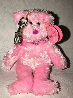 DAZZLER the Mini BEAR- TY PINKYS BEANIE BABY Key Clip - with MINT TAGS 5""