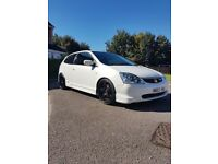 White Honda Civic Type R Ep3 2004