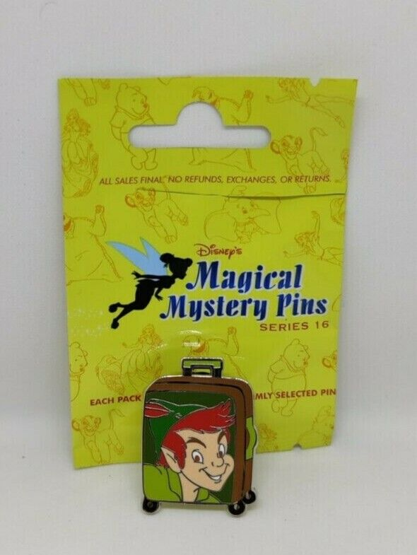 Peter Pan Rolling Suitcase Luggage Magical Mystery Pins Series 16 Disney Pin
