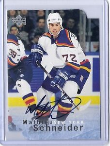 1995-96-UPPER-DECK-BE-A-PLAYER-MATHIEU-SCHNEIDER-DIE-CUT-AUTO-BAP-SIGNATURE-S20