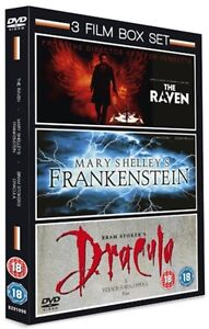 The Raven/Mary Shelley's Frankenstein/Bram Stoker's Dracula (Box Set) [DVD]
