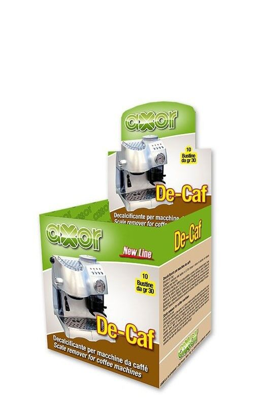 DECALCIFICANTE AXOR DE-CAF PER MACCHINA CAFFE 10 BUSTINE DA 30gr
