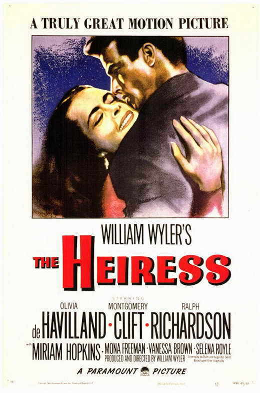 THE HEIRESS Movie POSTER 11x17 Olivia de Havilland Montgomery Clift Ralph