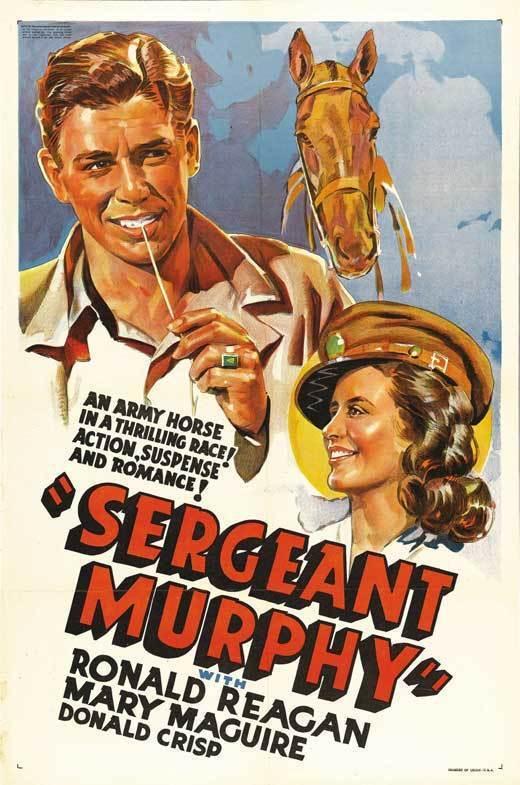 SERGEANT MURPHY Movie POSTER 27x40 Ronald Reagan Mary Maguire Donald Crisp Ben