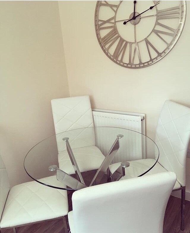 Clear Glass Dining Table Oldham