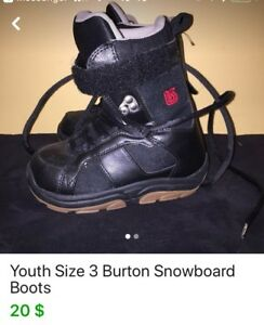 Burton snow boot size 3 like new 20$ à Rockland
