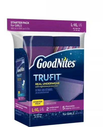 Goodnites Tru-Fit Real Underwear Starter Pack, L/XL, Girls,