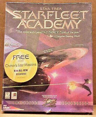 Computer Games - RARE Computer Game === STAR TREK - Star Fleet Academy (NEW/ STILL SEALED) Win95