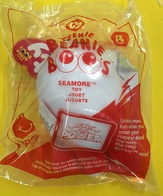 2017 McDonalds TY Teenie Beanie Boos #8 Seamore Seal Happy Meal Toy New Sealed