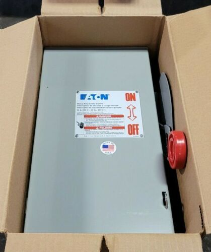 NEW EATON 60 AMP FUSIBLE SAFETY DISCONNECT SWITCH 600 VAC 3P TYPE 3R DH362FRK