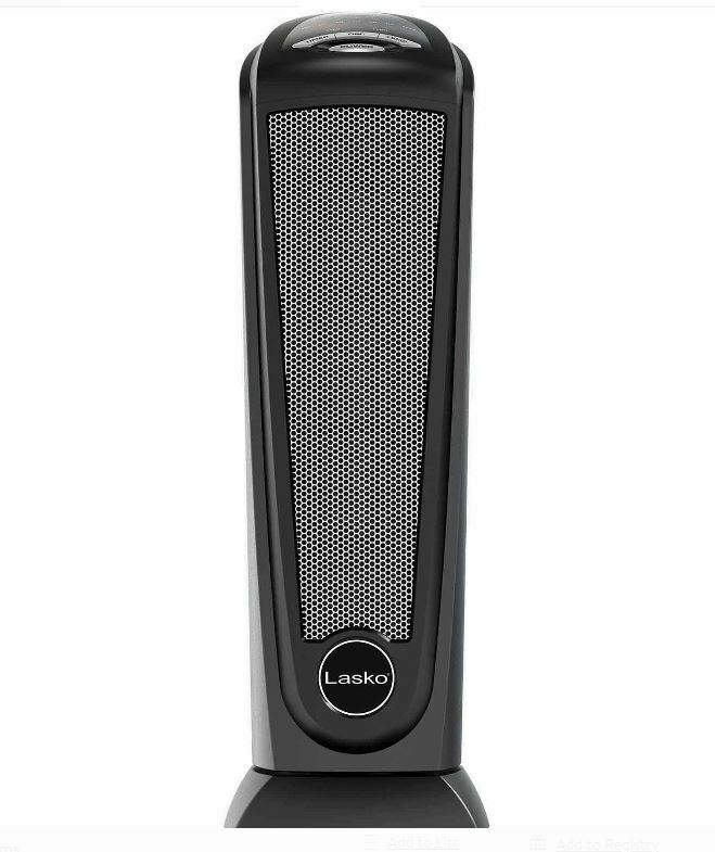 Lasko Top Quality New Black, CT22410 Electric Tower Space He