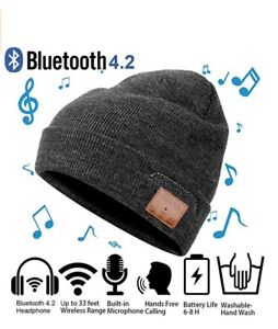 Bluetooth 4.2 +EDR Wireless Stereo Beanie Winter Hat with Mic