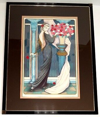 """Mary Vickers """"Midnight Arrangement"""" Limited Edition Lithograph Signed 260 of 325"""