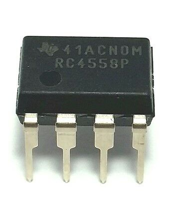 10pcs Texas Instruments Rc4558p Rc4558 Dual Operational Amplifier Dip-8 New Ic