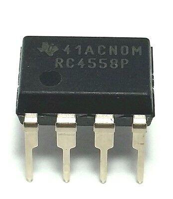 2pcs Texas Instruments Rc4558p Rc4558 Dual Operational Amplifier Dip-8 New Ic