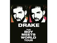 Drake concert ticket x1 Saturday 4th February 2017 block 107 London 02 arena